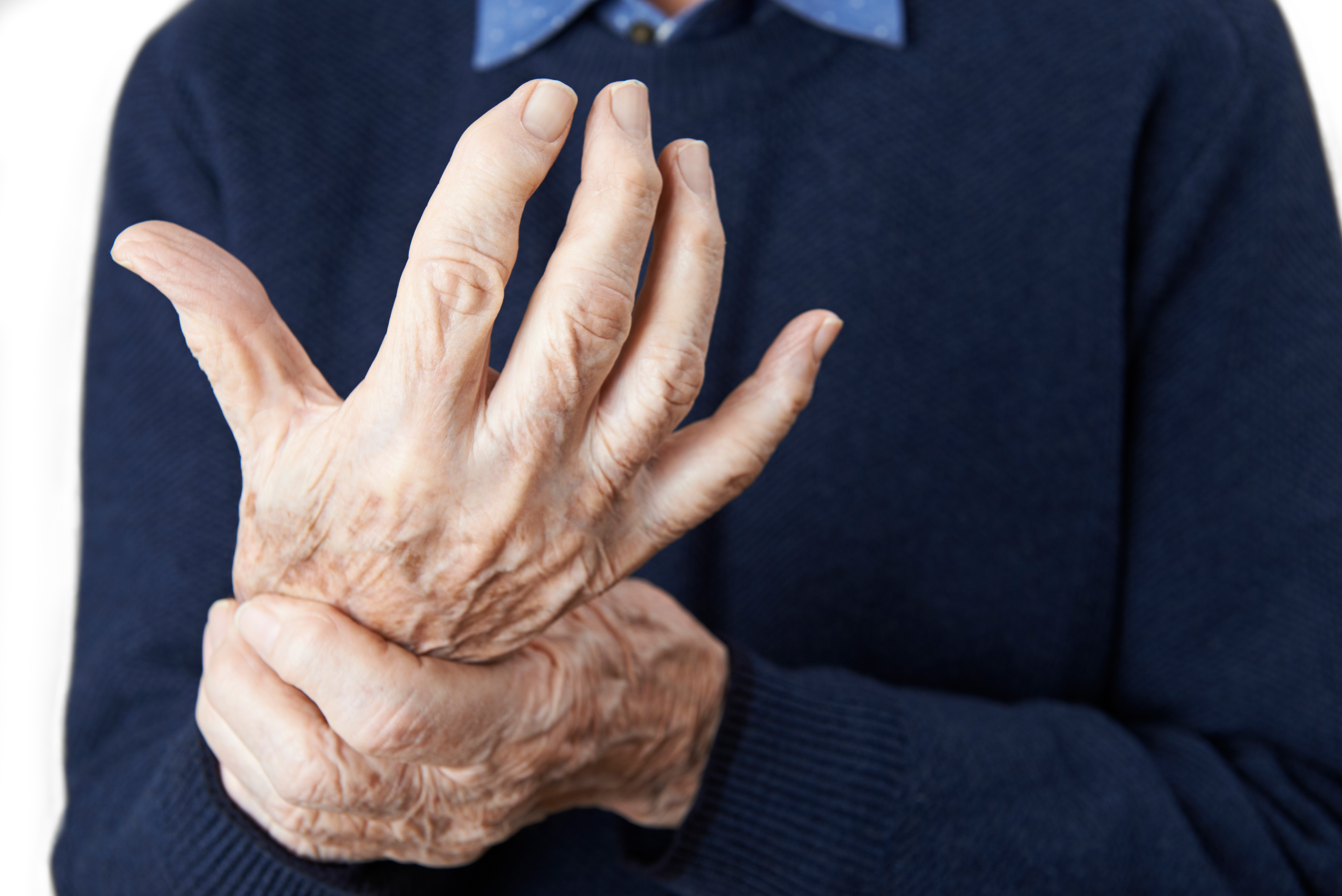 Close Up Of Senior Man Suffering With Osteoarthritis or Rhematoid Arthritis